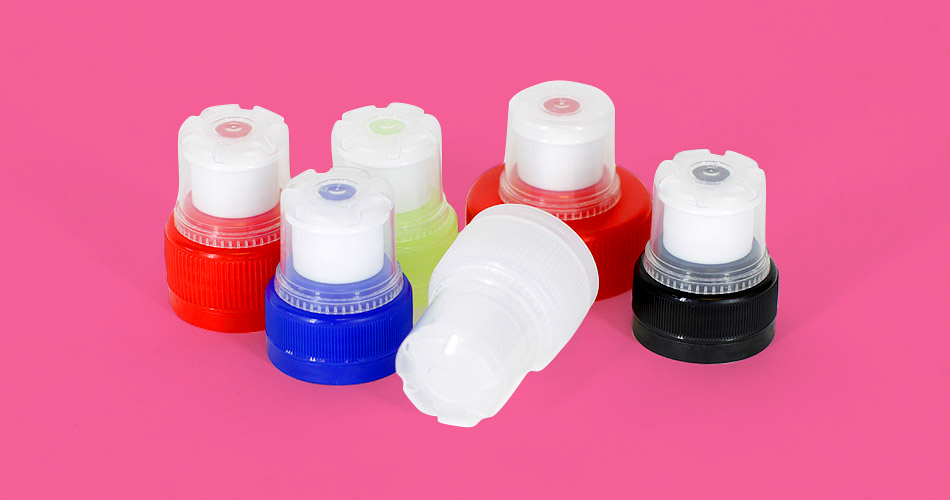 water - plastic  bottle tops